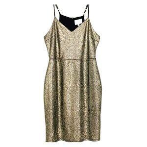 Retro glam body con gold dress